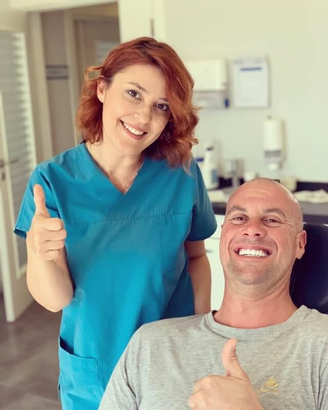 happy patient smile team